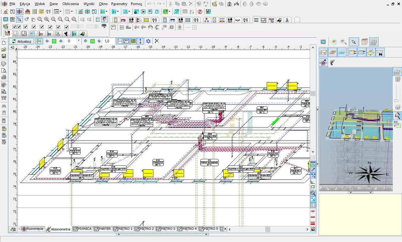 Automatyczna aksonometria w programie Audytor SET
